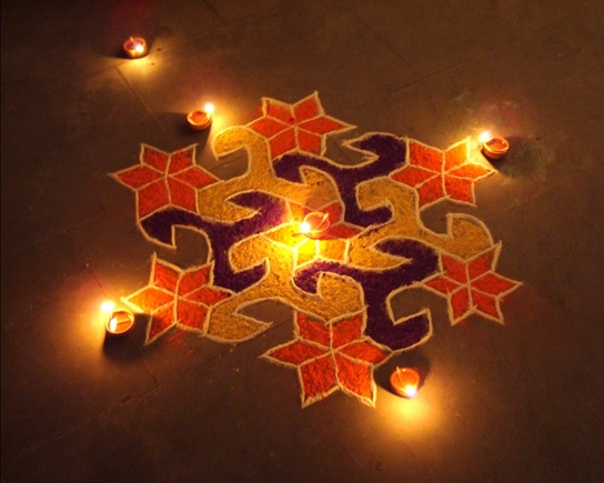 hexagon-shaped-dotted-rangoli