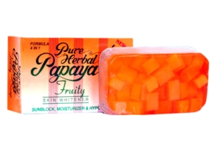 Pure Herbal Papaya Fruity Skin Whitening Soap