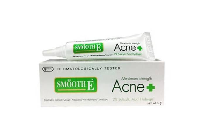 Smoothe hydro gel salycylic acid acne cream
