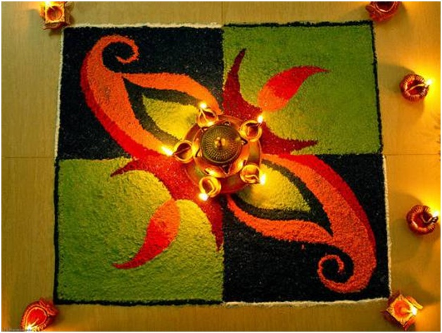 unique-rangoli-in-dark-shades