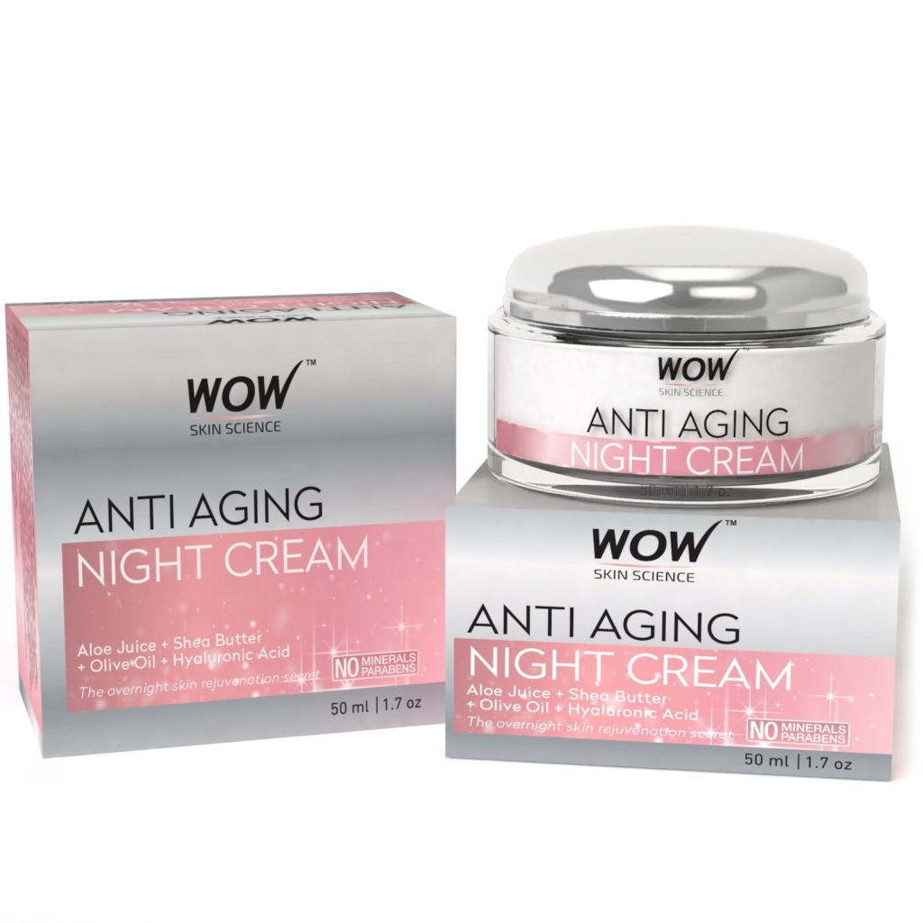 WOW Anti-Ageing Night Cream with Minerals and Parabens