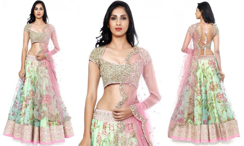 womens-party-wear-sea-green-and-pink-color-embroidered-net-lehenga-choli-with-beautiful-blouse-piece