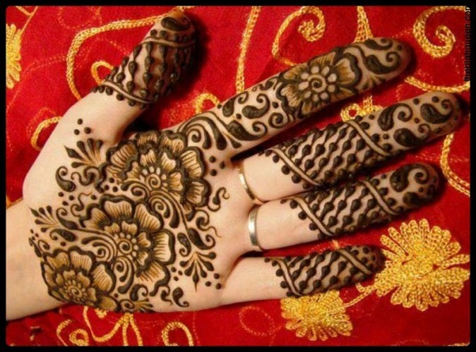 Arabic Mehndi Flower : Easy and simple henna designs for palms mehendi hands