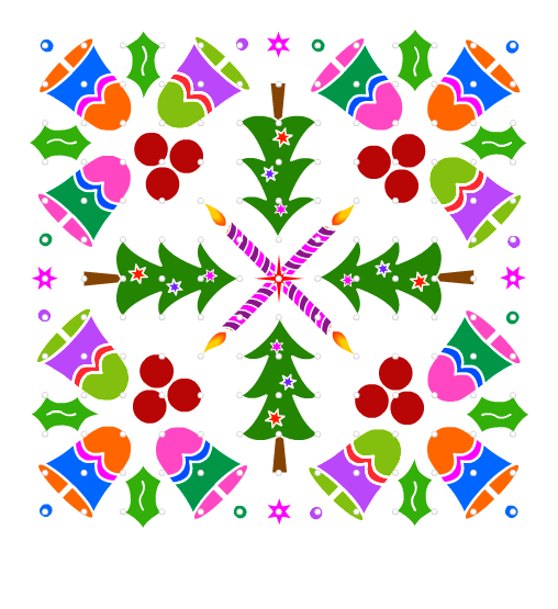 christmas-rangoli-design-with-tree-and-cranberries