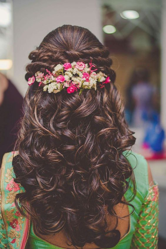 Latest bridal hairstyles for wedding sarees - Indian ...