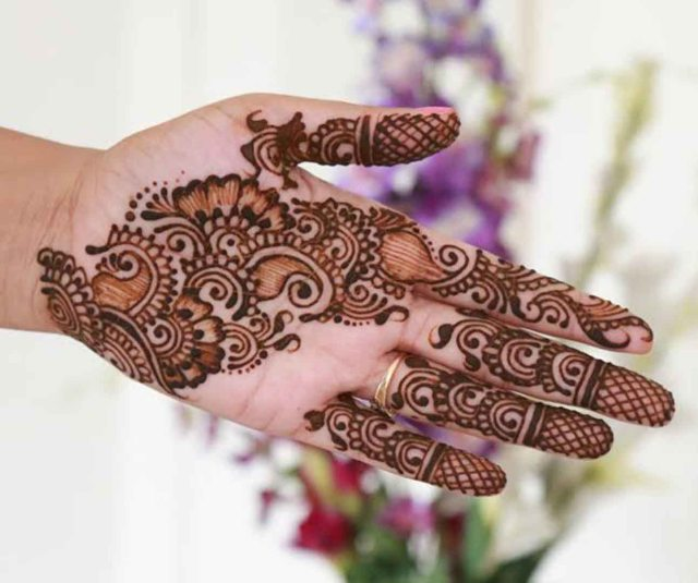 Mehndi Palm Design : Easy and simple henna designs for palms mehendi