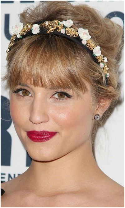short-fringe-tied-hairstyle