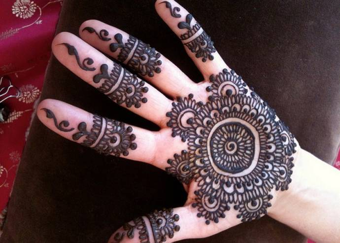 Mehndi Designs For Palm : Easy and simple henna designs for palms mehendi