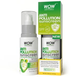 WOW Anti Pollution Sunscreen Water Resistant Sunscreen Lotion