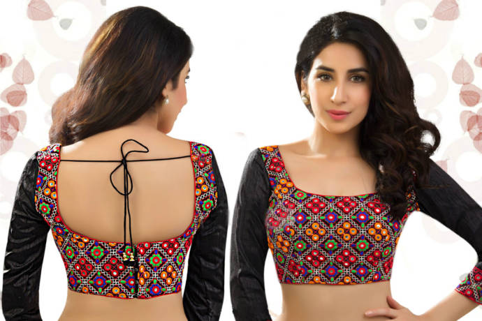 Blouse Stand Neck Designs : Square neck blouse designs