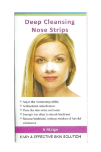 Deep cleansing nose trips