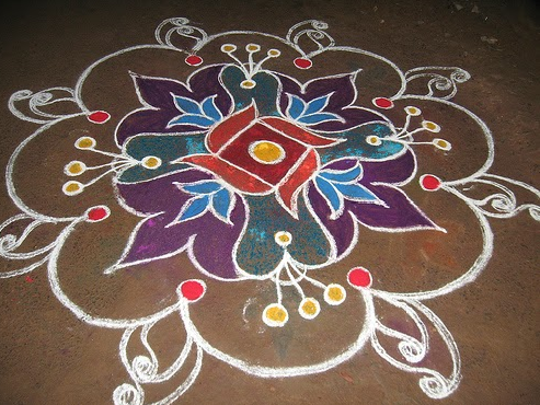 floral-2017-new-year-rangoli-design