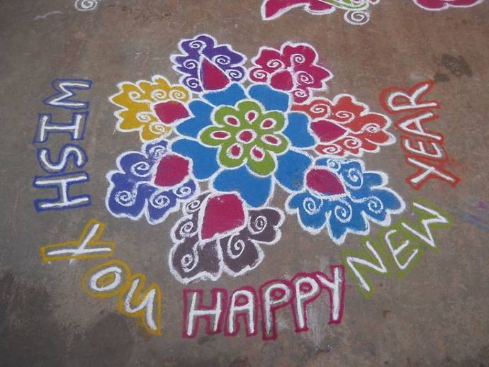 floral-circular-happy-new-year-2017-rangoli