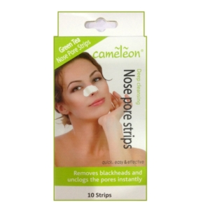Green tea nose pore strips