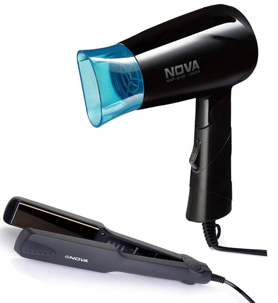 Nova Nht-8100/05 Hair Dryer + 860 Hair Starightner Combo Kit