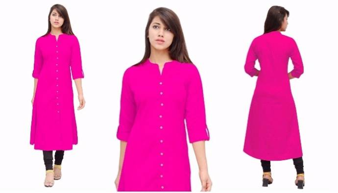 Princess Cut Linen Formal Wear Long Kurta