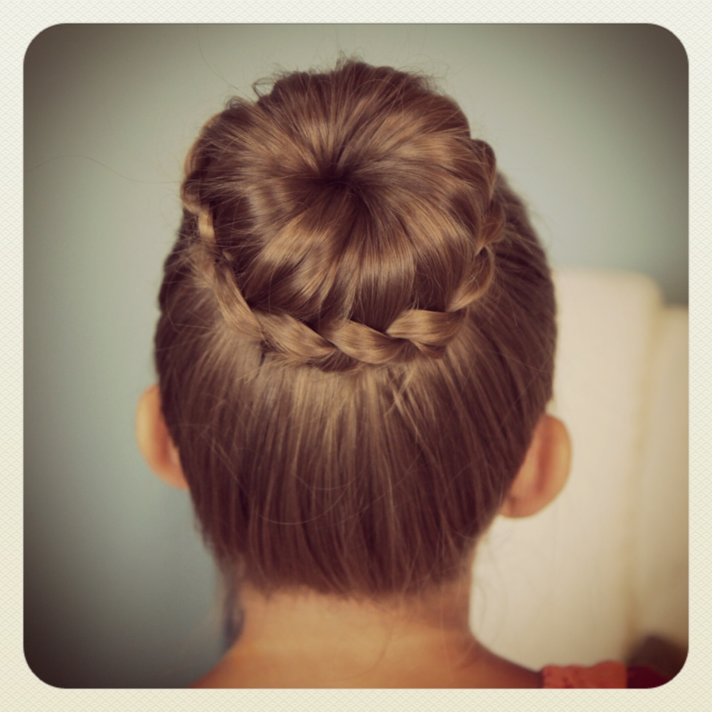 Small braid updo bun