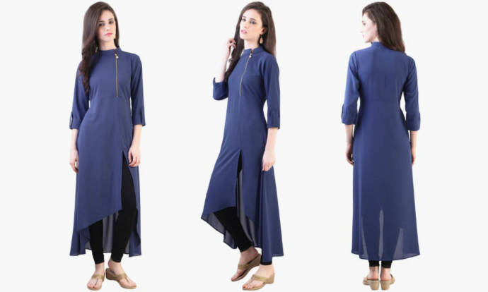 how to cut stand collar kurti