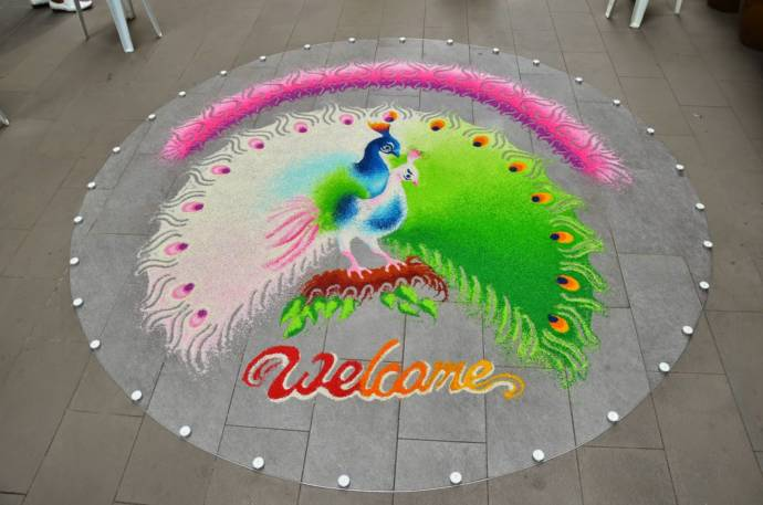 Rangoli designs for welcome