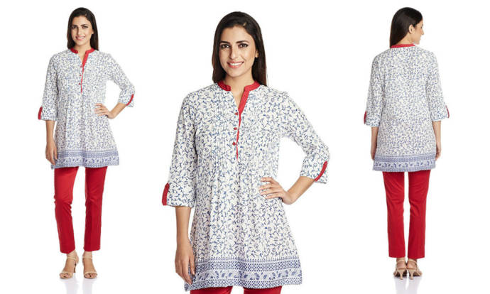 womens-pintuck-cotton-a-line-kurta-with-mandarin-collar