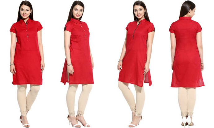 womens-red-color-long-kurta