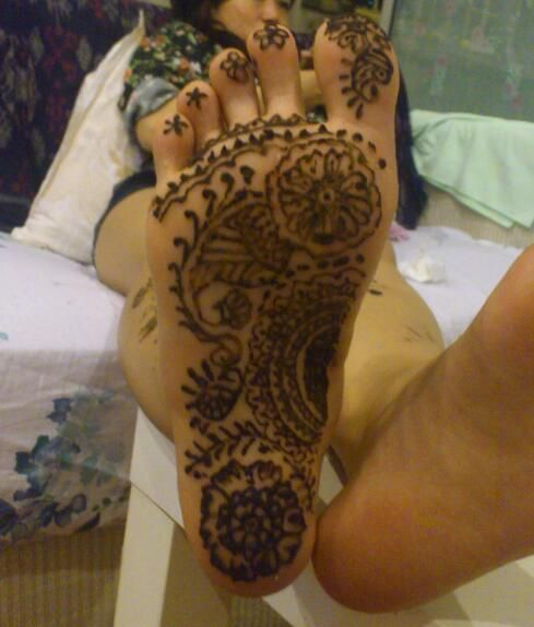 Another floral design for the sole of foot