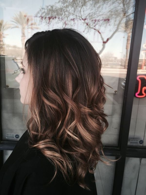 Balayage hairstyle for medium length hairs