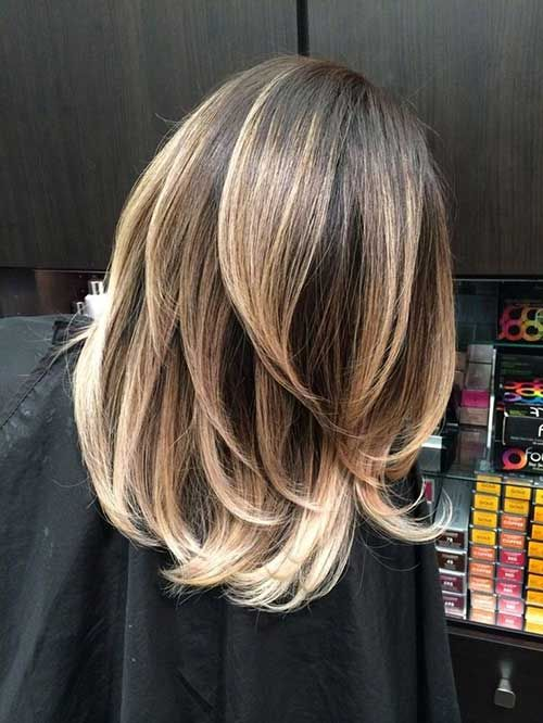 Balayage with low lights