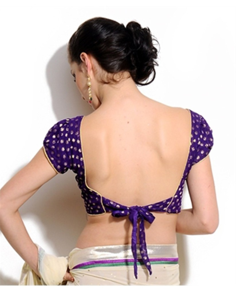 Blouse back design with knotted waist strap