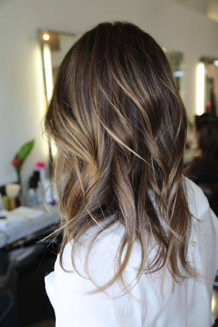 Caramel balayge highlights on blonde hairs