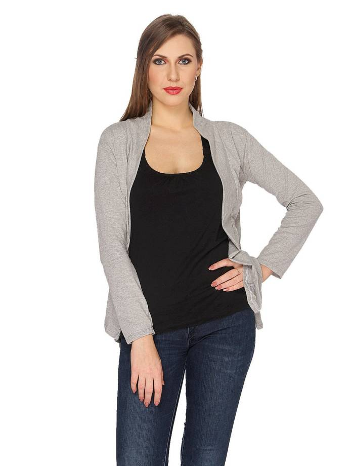 De Moza Ladies Long Shrug with Pocket 100% Viscose