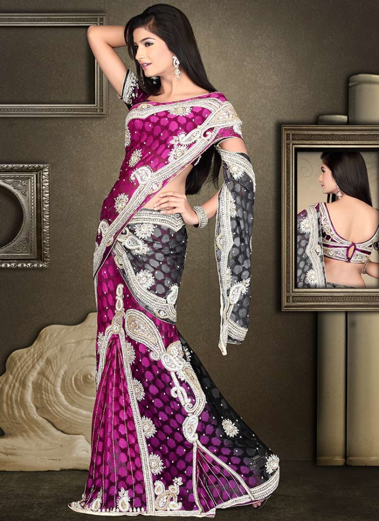 Designer maggam work saree design
