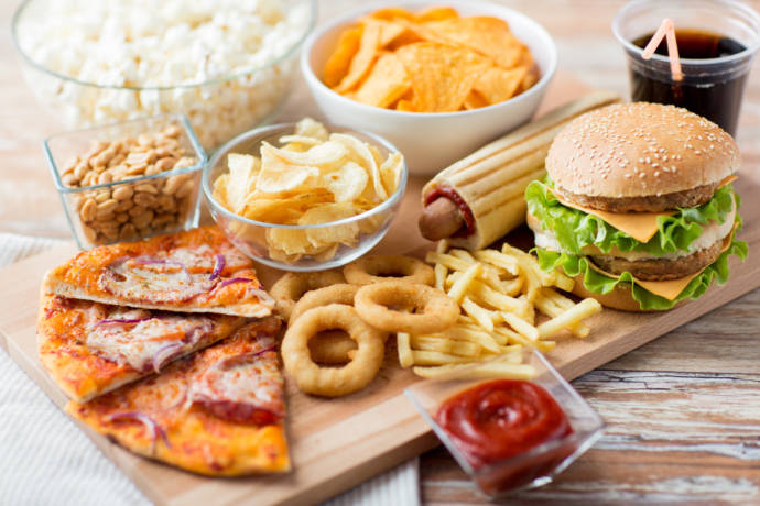 High-fat and high-sodium snacks
