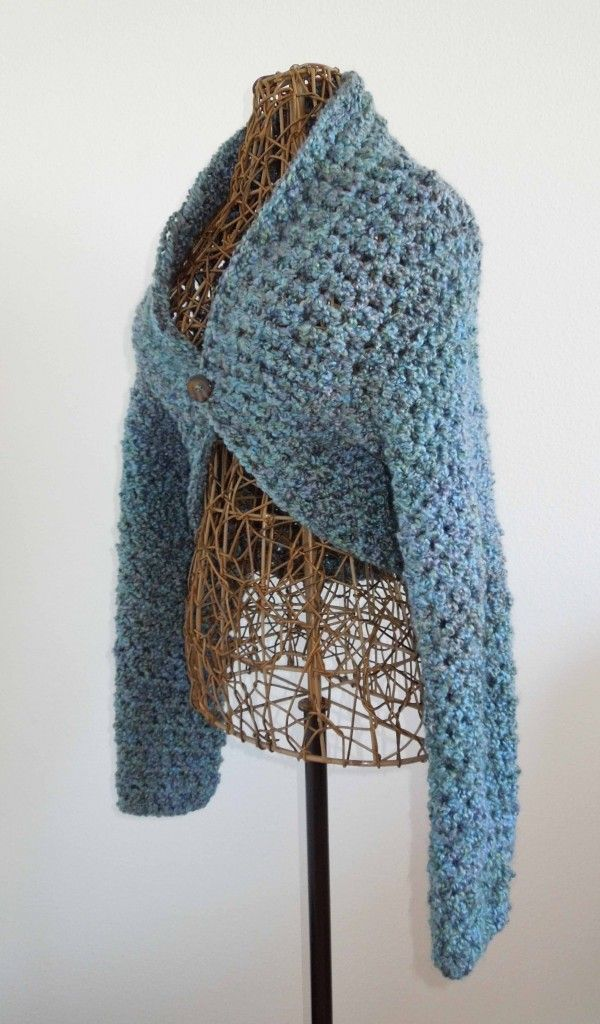 Free Crochet Pattern Simple Shrug : Beautiful shrug ideas with long sleeves