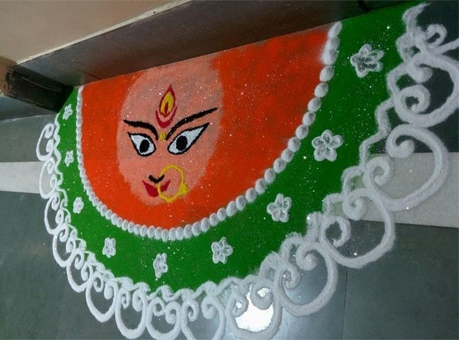 Easy wall rangoli.1