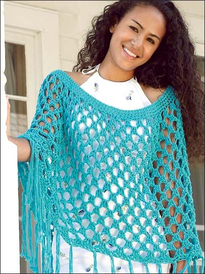 Light blue shrug with tussle