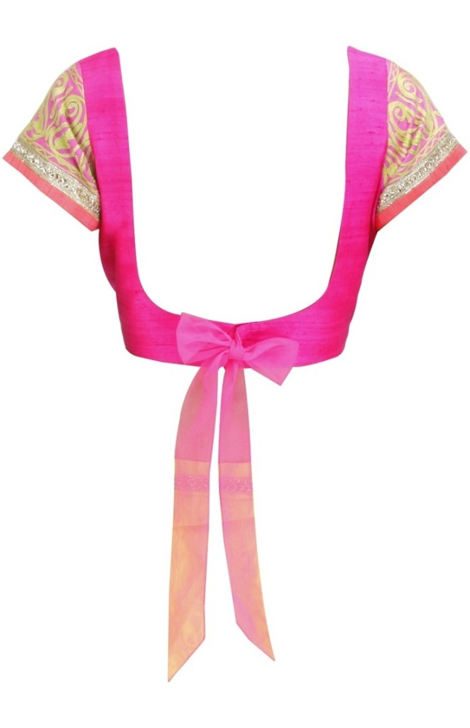 Low back blouse design with bow