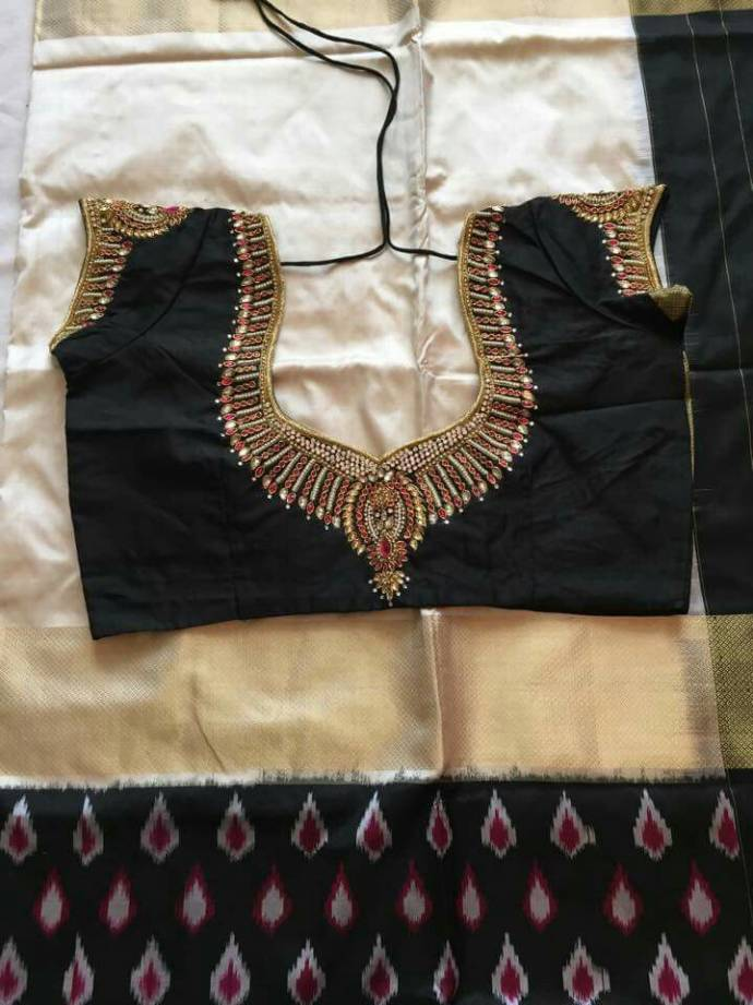 Maggam work embellished blouse design