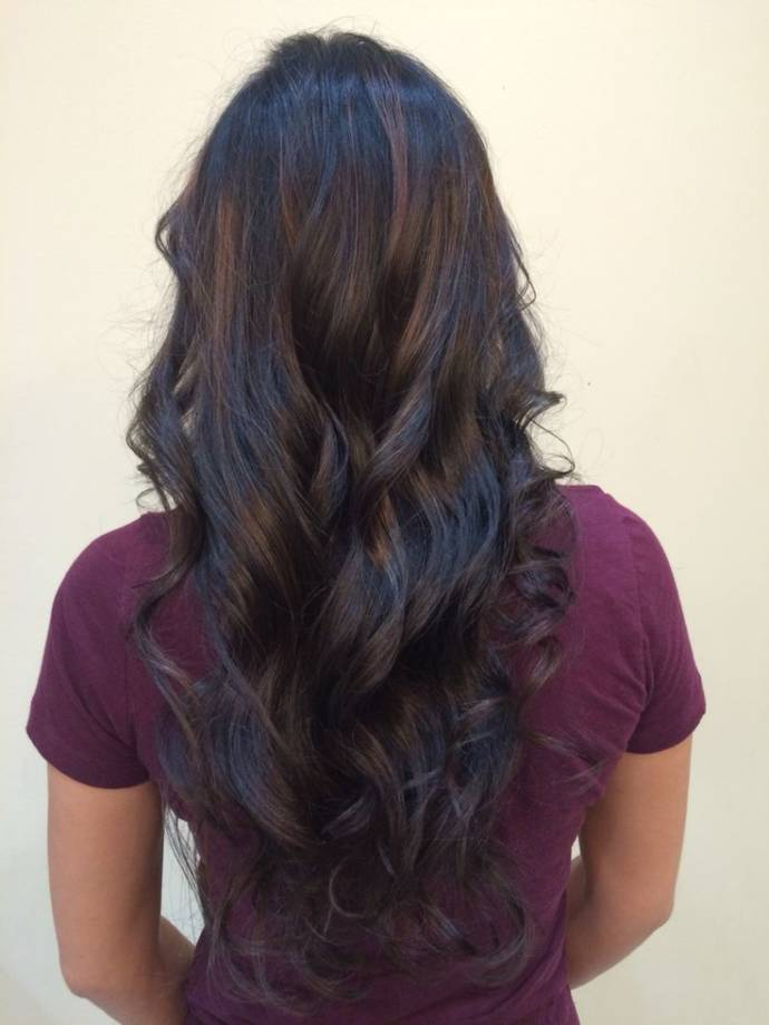 Natural Balayage for adding curl dimension