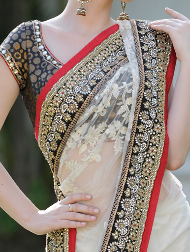 Rich maggam work for saree border
