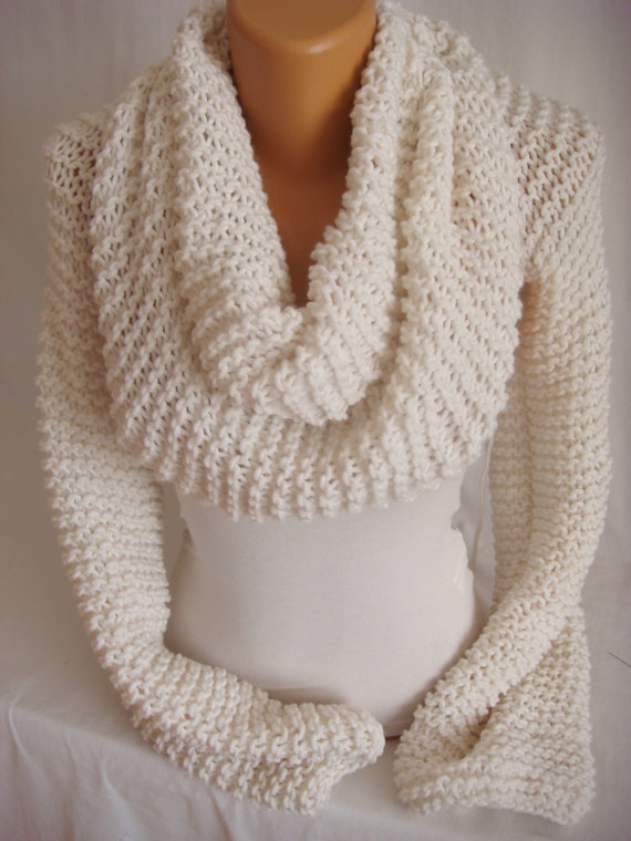 Shrug with shawl idea