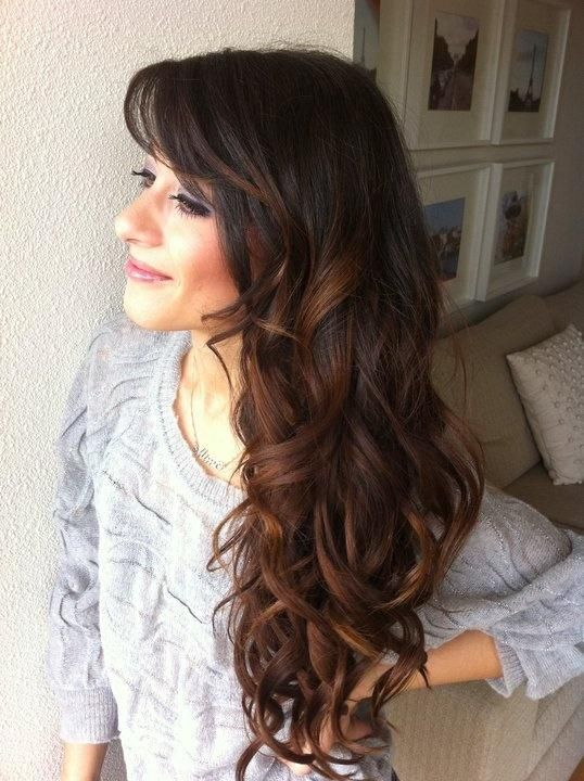 Subtle balayage with dark brown