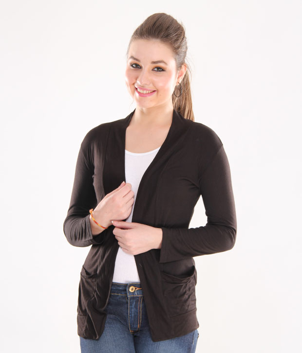 Trendy Black pocket shrug by Bfly