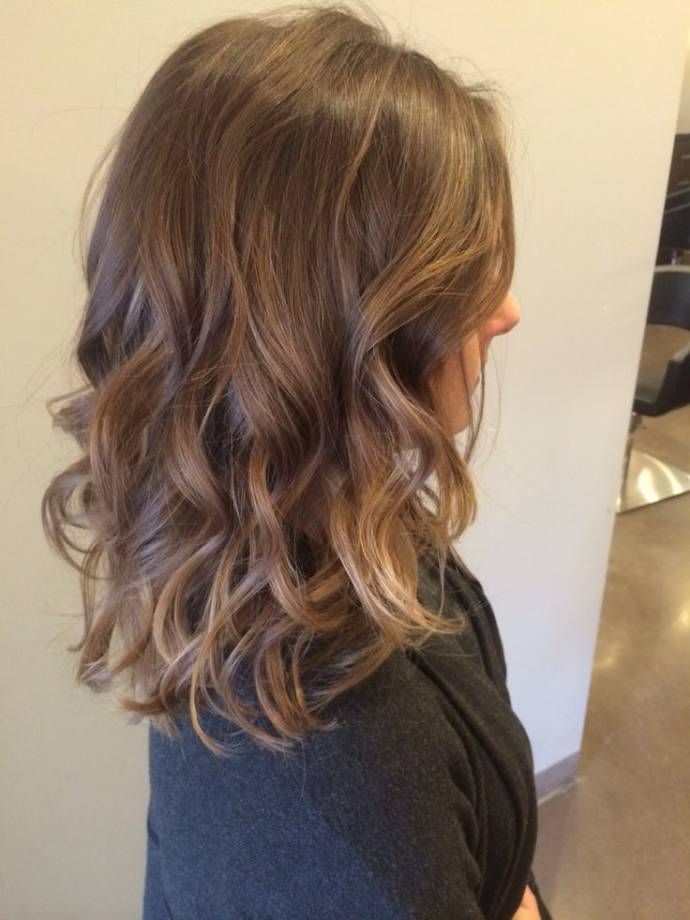 Turtle shell hair color with balayage