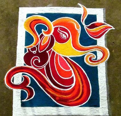 Unique Ganapati rangoli