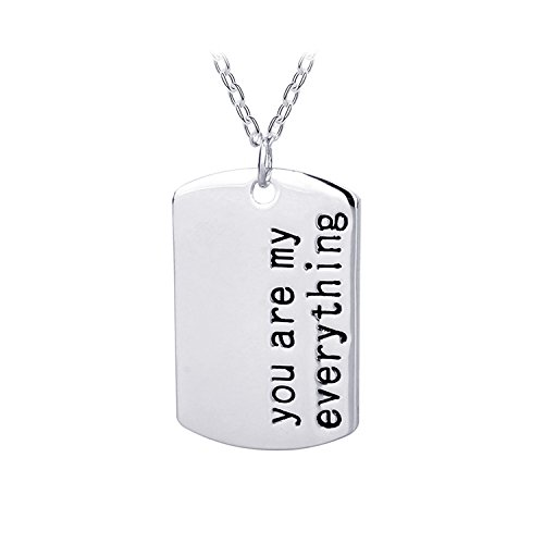 A pendant necklace with a special message