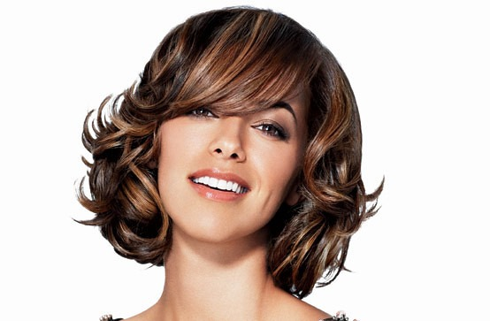 Short hair highlights with caramel color caramel highlight on dark brown curly hair solutioingenieria Choice Image