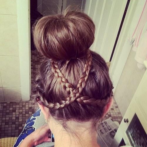 Criss-cross braid with bun
