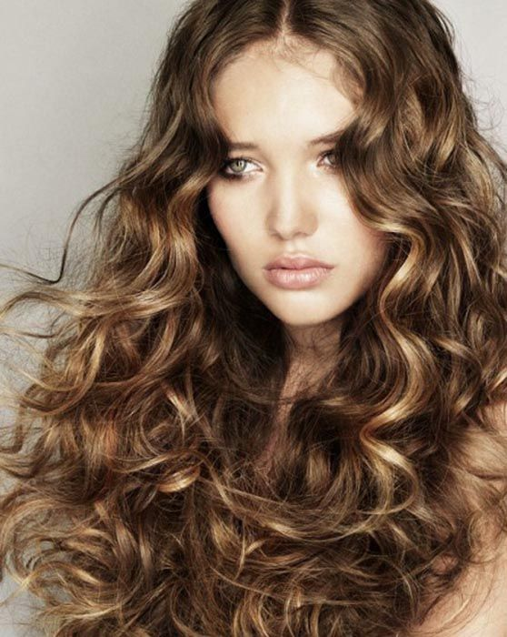 Curled waves with open hair