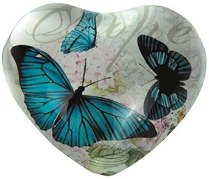 Heart shaped hope designer paper weight